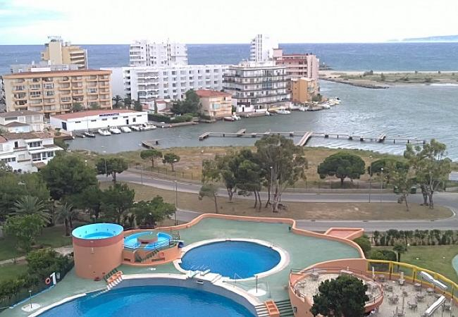 Estudio en Rosas / Roses - Estudio con piscina a1 kmde la playa