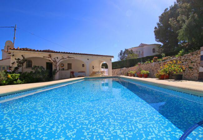 Villa en Calpe - Fantástica villa Mia con piscina privada, barbacoa, parking y wifi