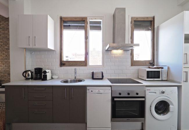 Apartamento en Barcelona - Apartamento con aireacondicionado a1 kmde la playa