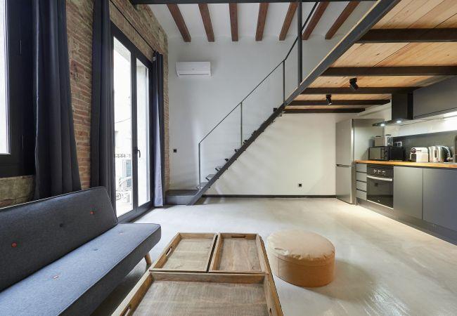 Estudio en Barcelona - Estudio con aire acondicionado en Barcelona