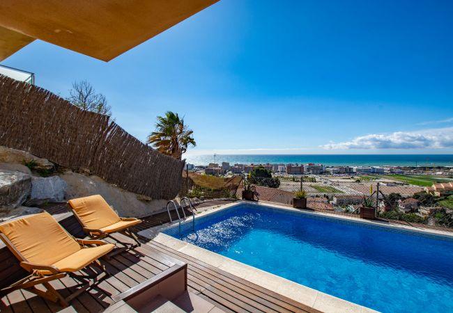 Villa à Santa Susana - Villa avec piscine à2 kmde la plage