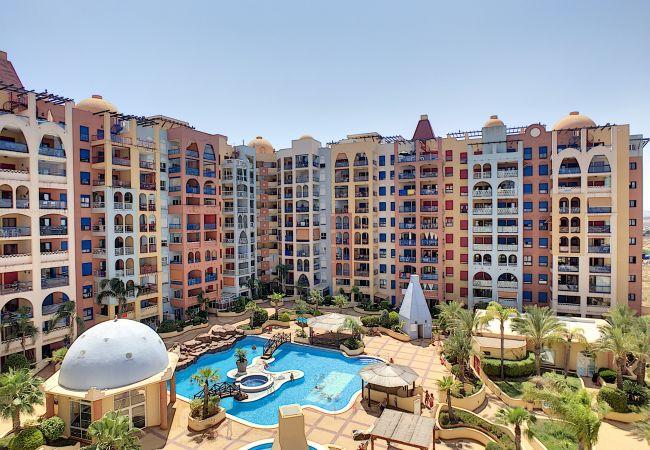 Ferienwohnung in Playa Honda - Apart. mit Meerblick, gratis WiFi, Balkon, Innen- und Außenpool